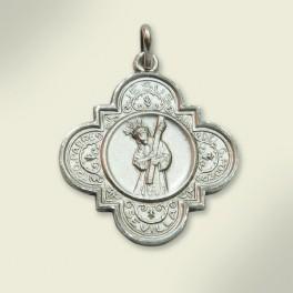 Medalla en plata. 32 mm.