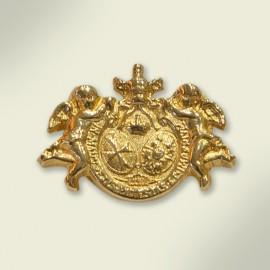 Escudo de solapa en oro. 20x14 mm.