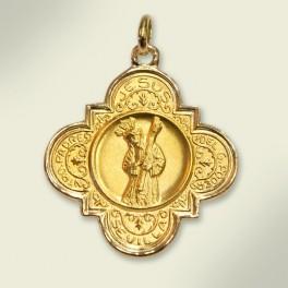 Medalla en oro. 32 mm.